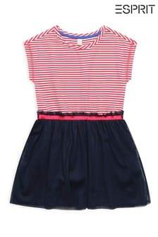 Esprit Pink Stripe Tulle Dress