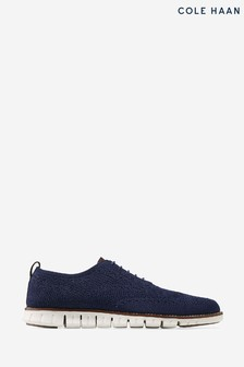 Cole Haan Blue Zerogrand Stitchlite Oxford Shoes