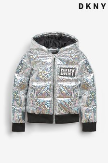 DKNY Silver Padded Jacket
