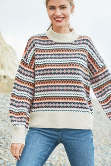 Fairisle Pattern Stripe Jumper