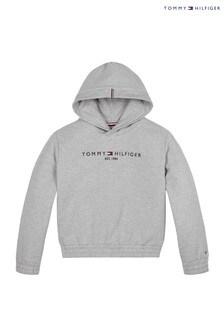 Tommy Hilfiger Grey Essential Logo Hoody