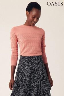 Oasis Pink Tessa Textured Jumper