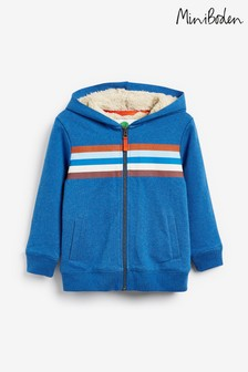 Boden Blue Cosy Shaggy-Lined Hoody