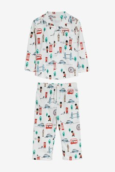 London Bus Button Through Pyjamas (9mths-8yrs)