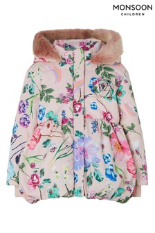 Monsoon Pink Baby Pixie Padded Coat