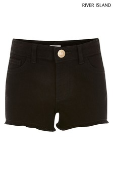 River Island Black Clean Becca Shorts