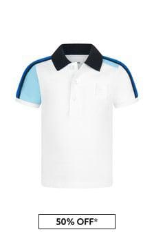 Boss Kidswear Baby Boys White Cotton Poloshirt