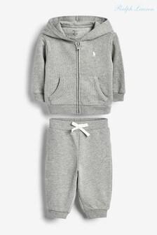 Ralph Lauren Grey Logo Fleece Set
