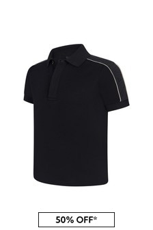 Emporio Armani Boys Navy Polo Top