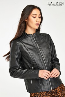Lauren Ralph Lauren® Leather Biker Jacket