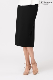 L.K.Bennett Black Judi Pencil Skirt