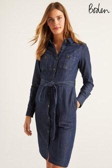 Boden Blue Holly Denim Dress
