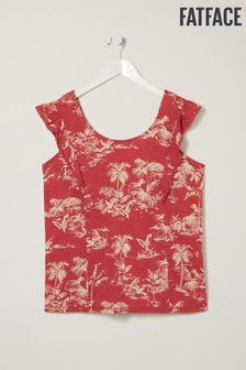FatFace Red Tia Flamingo Cami