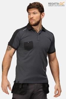 Regatta Grey Offensive Wicking Poloshirt