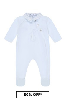 Tartine et Chocolat Baby Boys Blue Cotton Babygrow