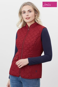 Joules Red Minx Quilted Gilet