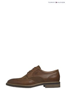 Tommy Hilfiger Brown Signature Mix Brogue Shoes