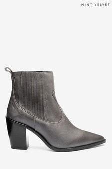 Mint Velvet Erika Grey Cowboy Boots