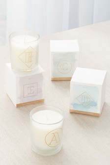 White Jasmine Alphabet Candle
