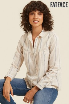 FatFace Natural Allyra Stripe Shirt