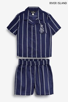 River Island Navy Stripe Pyjamas