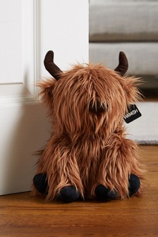 Hamish The Highland Cow Faux Fur Doorstop