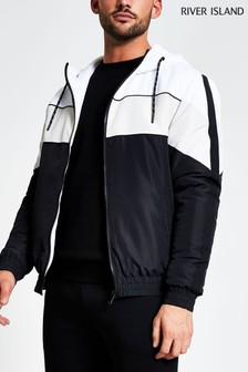 River Island Black Mono Midweight Quilted Jacket