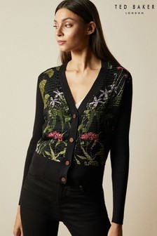 Ted Baker Black Hyree Highland V-Neck Cardigan