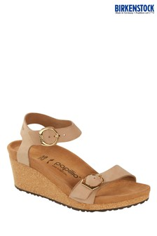Birkenstock® Nude Soley Wedge Sandals