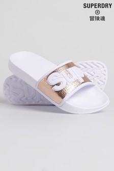 Superdry Rose Gold Sliders