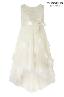 Monsoon Gold Iced Roses Sequin Dress