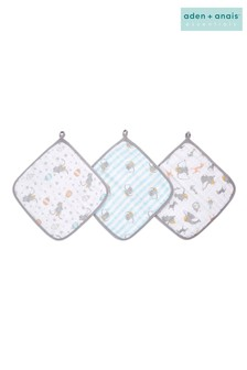 aden + anais® Essentials Washcloth Set 3 Pack - Dumbo New Heights