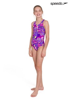 Speedo Purple Wet ALV Splashback Swimsuit