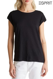 Esprit Black Short Sleeved T-Shirt