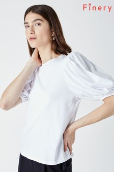 Finery Mabel Jersey Puff Sleeve T-Shirt
