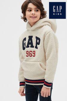 Gap Boys Grey Taped Logo Hoody