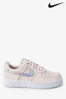 Nike Pink Iridescent Air Force 1 Trainers