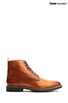 Base London® Brown Callahan Washed Lace-Up Boots