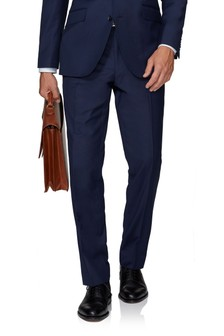 T.M. Lewin Windsor Navy Twill Slim Fit Trousers