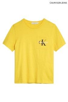 Calvin Klein Yellow Monogram Pocket T-Shirt