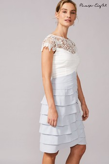 Phase Eight White Faith Contrast Dress