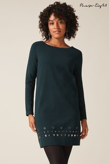 Phase Eight Green Selika Stud Hem Dress