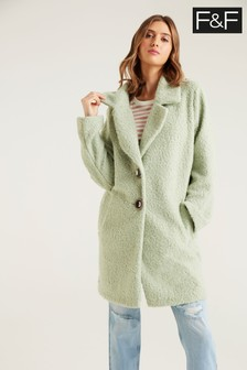 F&F Bouclé Green Coat