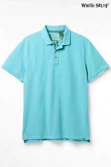 White Stuff Blue Penmere Pique Poloshirt