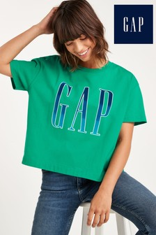 Gap Short Sleeve Ombre Logo Boxy Fit T-Shirt