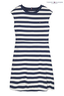 Tommy Hilfiger Blue Essential Striped Skater Dress