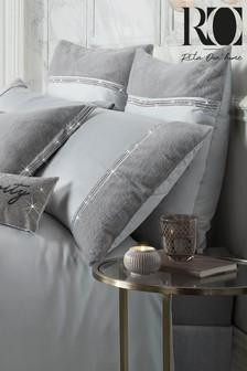Set of 2 Rita Ora Sylvie Faux Fur and Sequin Trim Pillowcases
