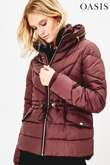 Oasis Red Pluto Padded Jacket