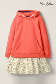 Boden Pink Cosy Hooded Dress