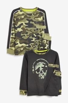 2 Pack Camouflage Pyjamas (3-16yrs)
